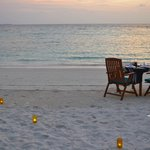 You can dine on the beach at the a la carte restaurant