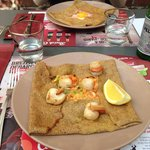 Galette St Jacques crevette curry