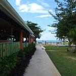 View from beach side court yard beside dining area