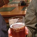 A well deserved pint of local ale