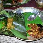 Squid with kokkum and fish polichettu.... yummy!!!