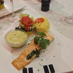Poached Salmon fillet and bernaise sauce