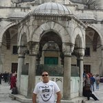 courtyard of blue mosque sultanamet istanbul turkey