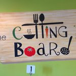 Cutting Board ! Cafe and Lunch! Delicious gourmet food!