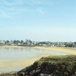 La plage en face de la résidence
