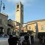 tavoli in piazza Vecchia