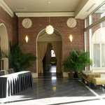 Hallway to courtyard.