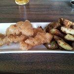 Fried Cod and crispy potatoes