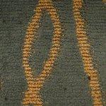 goo spots on carpet in room