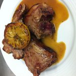 A trio of English Lamb Chops with lemon & herbs