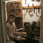 A mock carpenter's workshop
