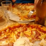 navona and chicken pizzas