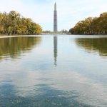 Reflecting pool and the Washington Monument