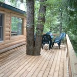 Deck on cabins 2 and 3
