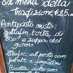 Traditional degustation Menù