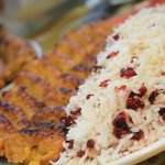 Rice with kabab
