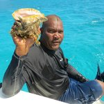 Gary brings up a conch