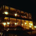 FRONT OF INN AT NIGHT