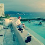 From the infinity pool