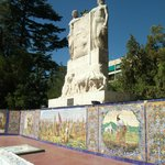 Monument with tiled pictures