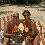 Coco loco en la playa