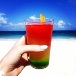 the whitest sand, bluest ocean and delicious drinks - great beach!