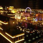 View @ night of Ballagio & Strip from 45th floor