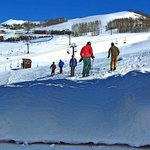 Bluebird ski day; your skiing right from the property, no lugging your gear around!