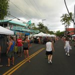Just outside the street fair of Alii Drive