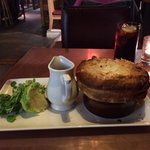 Pulled beef and ale pie