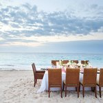 Beach Wedding Dinner Setting