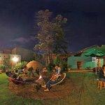 Bonfire, hamoc and bar garden
