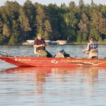 Fishing with great lake views