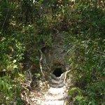 Entrance into Maya ruin