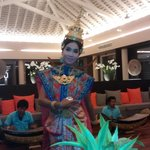 Thai dancers in the hotel