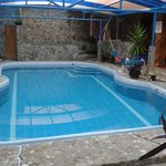 The pool, which is under cover (not indoors)