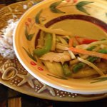 The green curry with chicken