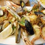 Shellfish platter for dinner