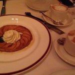 Apple tart and cappuccino, yum!!