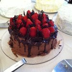 Celebration cake .... Chocolate & Strawberries