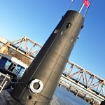 On the deck of the submarine