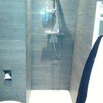 Dusch utan draperi