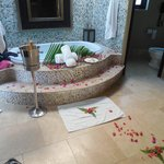 Our butler set up romantic bubble bath