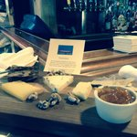 Cheese platter. All local cheeses.