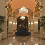 Gorgeous lobby with beautiful chandeliers