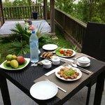 repas à la villa