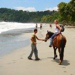 Manuel Antonio horseback riding through the rainforest and beach