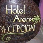 Hotel Arena en la recepcion