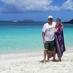 On the beach at Trunk Bay