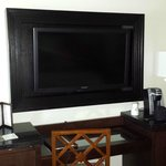 in frame flat screen tv